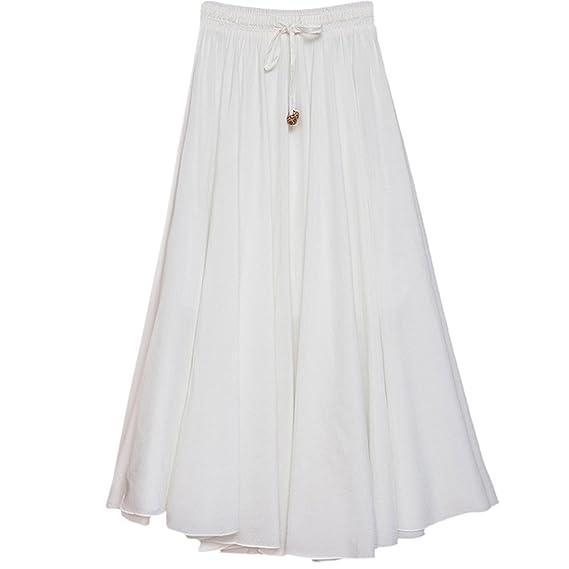 Danse Élastique Plissée Voyager 86cm Femme Jupe Pour Uniquelongue Porter Longue Confortable Taille Feoya Casual Quotidien IWD2YeEH9