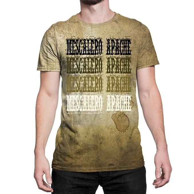 Idakoos Mescalero Apache Retro Vintage - 3D Hombres Camiseta Poliéster Novedad: Amazon.es: Ropa y accesorios