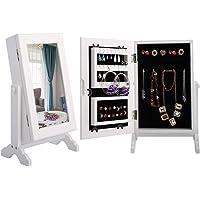 Armario joyero blanco con espejo de Costway