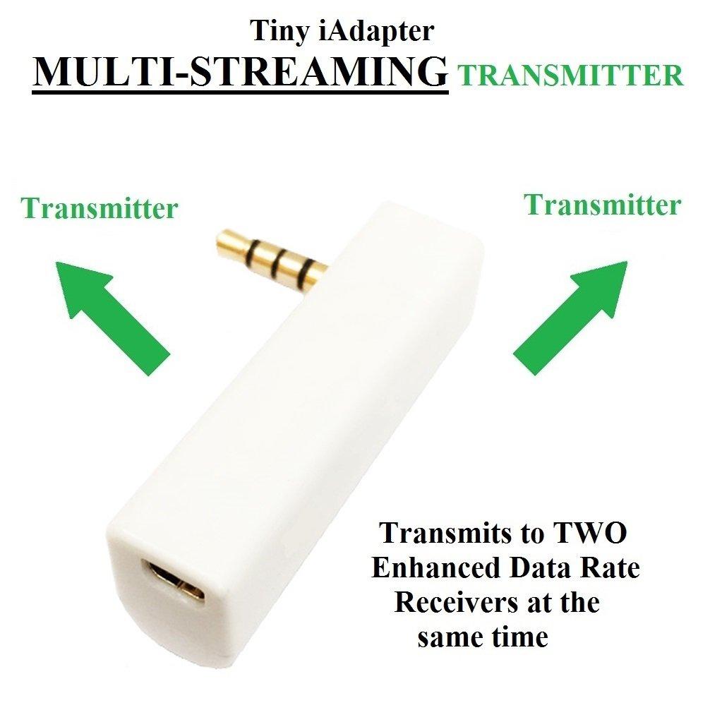 KOKKIA iSPLITTER (White) : iAdapter Multi-Streaming Bluetooth Stereo Transmitter Splitter.