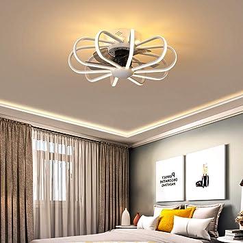 Ventilador techo plafon led techo Lámpara de ventilador de comedor ...
