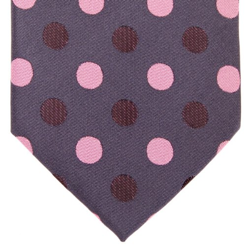Men's Dark Microfiber Tie Dots Grey Colors Retreez Pink Various With Woven Polka Dots Color Polka Two ww0BqYv