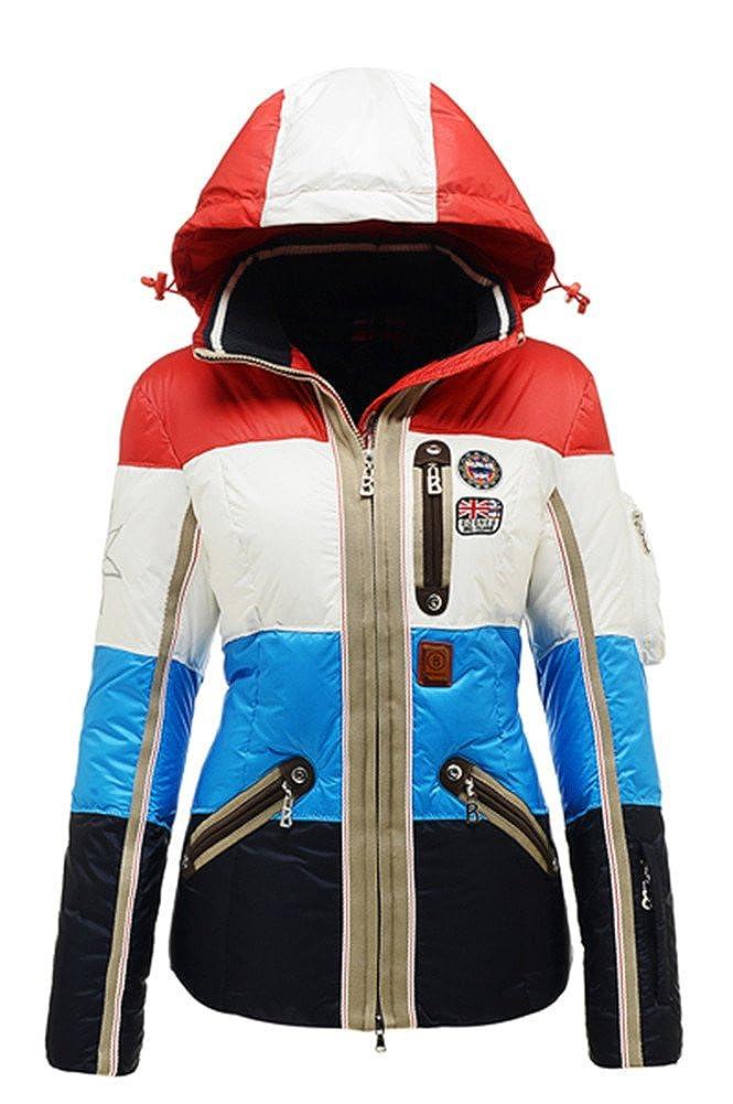 B0GNER Hooded Waterproof Outdoor Winter Sports Parka Windproof Women Neah-D Down Outdoor Skiing Jacket