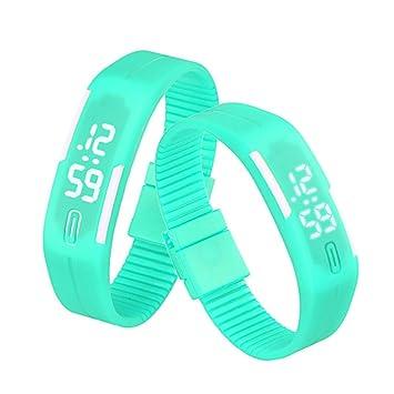 Flyfox® viernes negro oferta especial dos días Sólo para colchones goma llevado reloj pulsera Digital deportes (verde) reloj (verde): Amazon.es: Deportes y ...