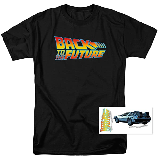 3345c8c375f Amazon.com  Popfunk Back to The Future T-Shirt Black  Clothing