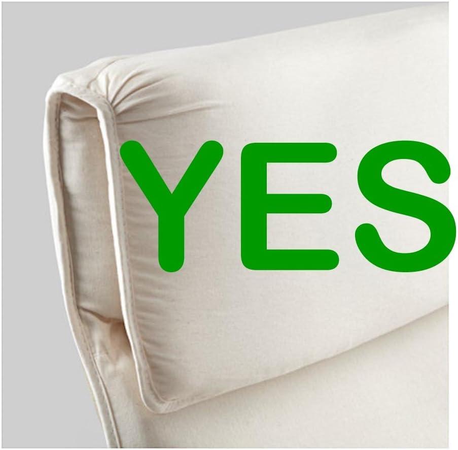 Custom Slipcover Replacement Couvrir Seulement Housse en Coton pour Housse de Fauteuil IKEA Pello Coton Gris Clair La Chaise nest Pas Incluse
