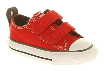 a175db62e0c090 Converse All Star Lo Velcro Red Smu - Youth 7 Uk: Amazon.co.uk ...