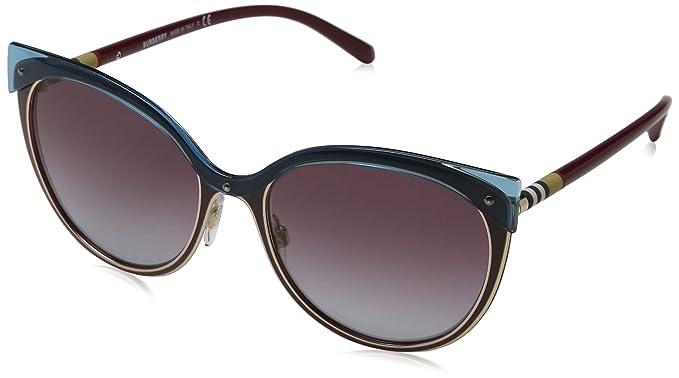 Burberry 0Be3096 126590 55 Gafas de Sol, Rojo (Red/Gold/Grey ...