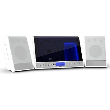 Stereoanlagen sind z.B. von OneConcept auch in schickem Weiß erhältlich.