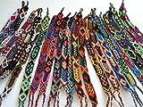10 Wholesale Pack Friendship Bracelets Hand Made Wool Woven Fair Trade Peru