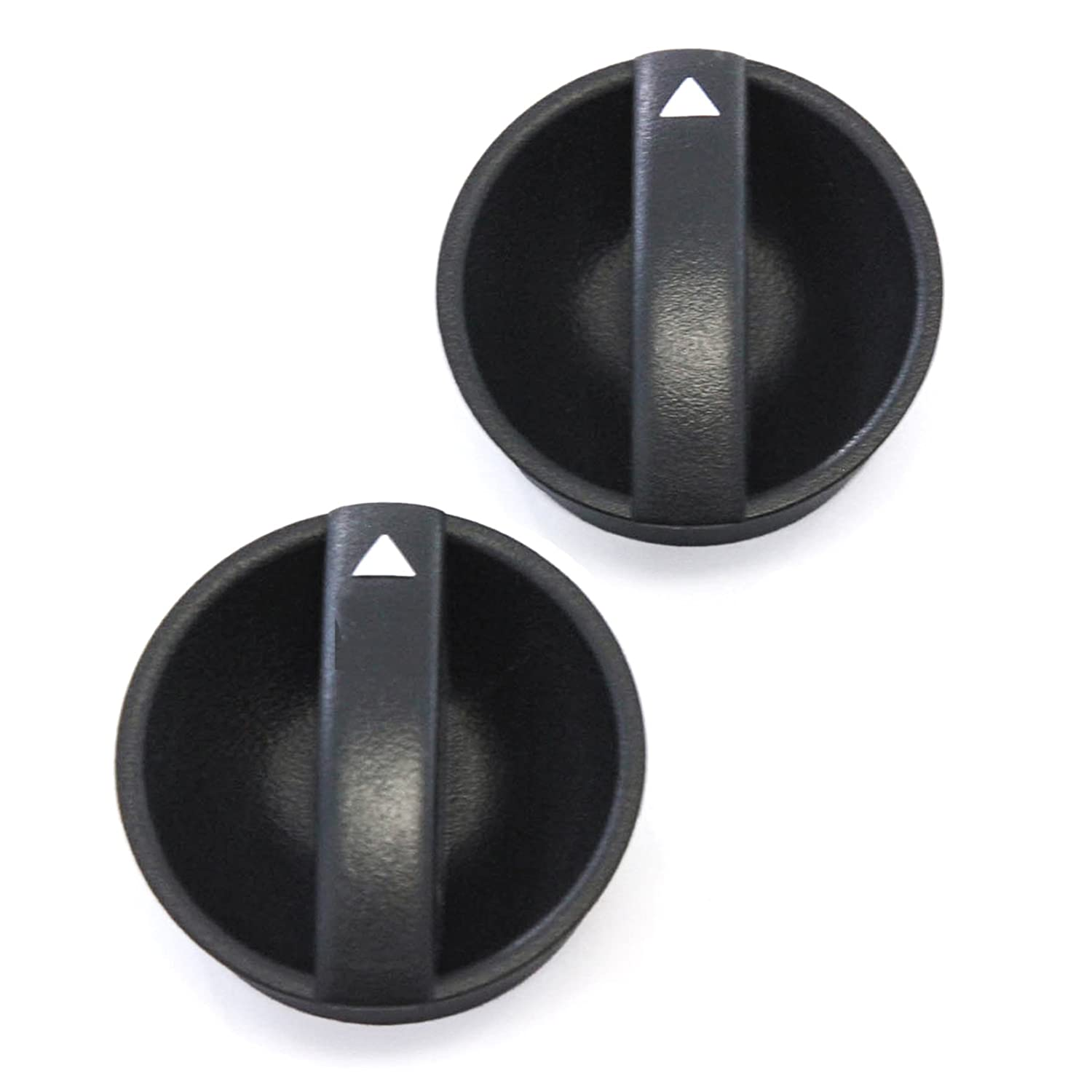 Orange Indicator 2 Control Knobs Fan Heater A//C 2005-2011 Compatible with Toyota Tacoma Temperature Black