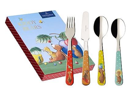 Villeroy & Boch 1264112091 - Juego de cubiertos infantiles (4 unidades), diseño de