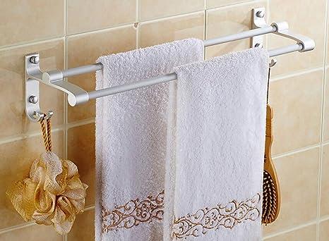 Toallero Agujero Toalla libre del estante de aluminio del espacio, Baño de toallas, del estante de ...