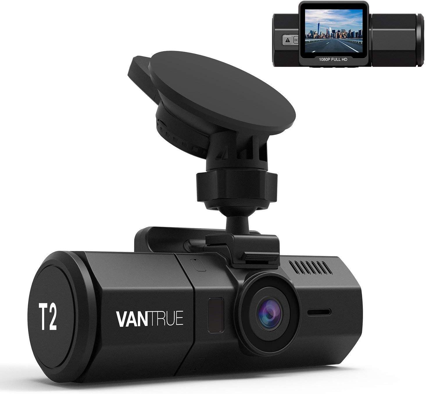 VANTRUE T2 Dashcam 1080P Condenser FHD, 24/7 OBD Microondas Monitoreo de estacionamiento Cámara para automóvil, Sony Sensor HDR Cámara de visión nocturna, de 160 ° 2 pulgadas para , Máx. 256 GB