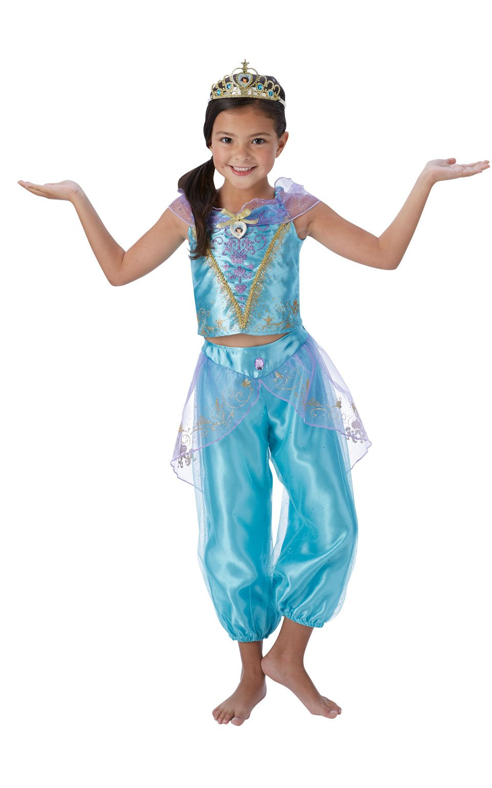 Rubieu0027s Official Disney Princess Jasmine Aladdin Childs Deluxe Costume Medium 5-6 Years  sc 1 st  Amazon UK & Jasmine Disney Costume: Amazon.co.uk