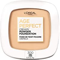 L'Oreal Paris Age Perfect Creamy Powder Foundation Compact, 300 Ivory, 0.31 Ounce