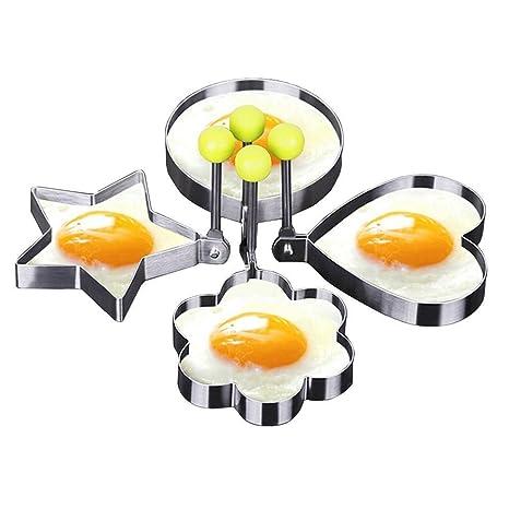 Youji® Anillo para tallar huevos fritos en acero inoxidable Molde para panqueques Herramientas de cocina