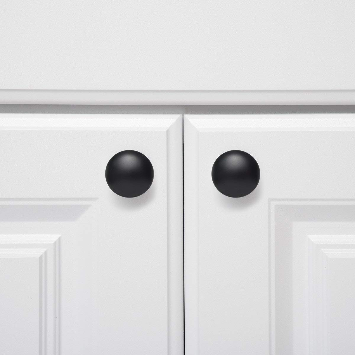 mueble de armario un solo agujero con tornillos de 25 mm para armario de aleaci/ón de aluminio 10 unidades redondeados Pomos para armario cuadrados GOODCHANCEUK