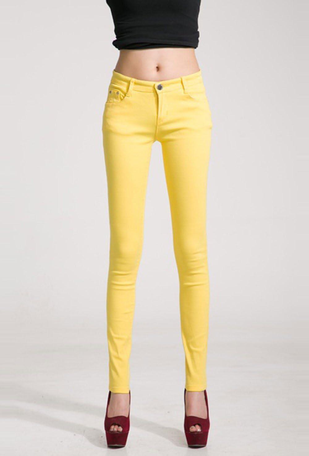 Hoverwin Pantalon Legging Femme Blanc,Noir,Taille Haute,Jean Elasthanne,Grande Taille Marine, 25 Minceur,Leggings Long Femme Slim Stretch,Multi-Couleur,Respirant,Elastique et Confortable