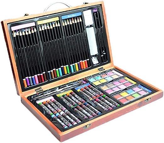 ART JKWL Set de Arte Inspirador de 80 Piezas para Dibujar y Dibujar lápices de Colores Crayones Estuche para Pintar: Amazon.es: Hogar
