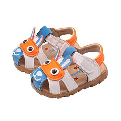 ad863f5960abd Janly® Kids Sandals 0-3 Years Old Boys Girls Flashing Lights Cartoon Shoes  Summer Leather Crib Shoes  Amazon.co.uk  Shoes   Bags