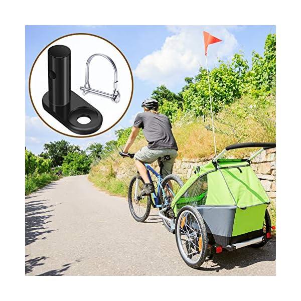 61g6%2BjEd08L Boao 2 Set von Fahrrad Anhänger Koppler Fahrrad Anhänger Haken Verbinder Ersatz Stahl Anhänger Haken Montieren Adapter…