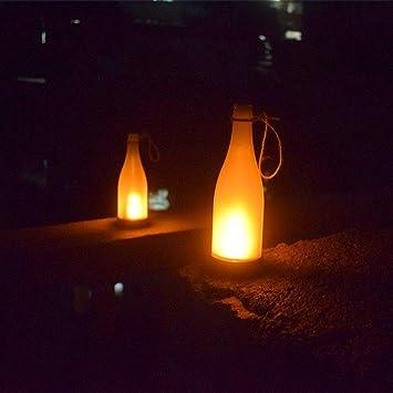 CRH Luces solares al Aire Libre, Botella Solar lámpara de Llama Luz de jardín al Aire Libre Araña de jardín Luces Colgantes de jardín, Impermeable, Patio de Patio, Garaje de Cubierta.: Amazon.es: