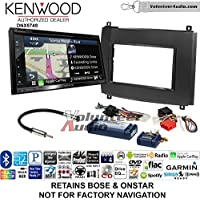 Volunteer Audio Kenwood DNX574S Double Din Radio Install Kit with GPS Navigation Apple CarPlay Android Auto Fits 2003-2007 Cadillac CTS, 2004-2006 SRX