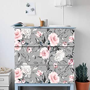 Alwayspon Self-Adhesive Dresser Sticker, Peel and Stick Furniture Stickers/Decals, Removable Furniture Skin (008, MALM)…