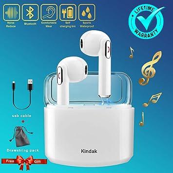 Inalámbricos Auriculares Bluetooth,Wireless Deportivos Running In-ear Cascos Earbuds Auriculares con Micrófonos Manos