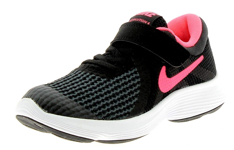 Nike Kids Revolution 4 (PSV) Black Racer Pink White Size 10.5 by Nike (Image #1)