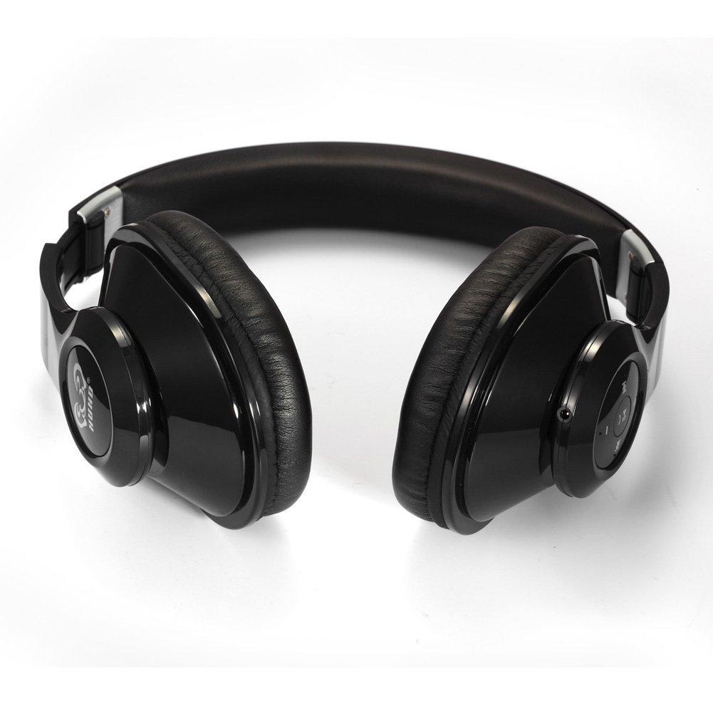 HAMSWAN Auriculares plegable Bluetooth 4.0 estéreo con micrófono y NFC Toque batería interna recargable y cómoda Almohadilla de Cuero Los Mejores ...