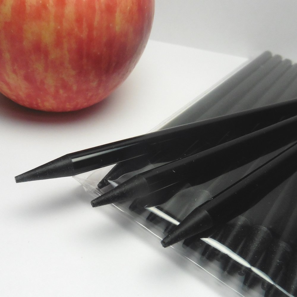 40pcs 6 in BLACK Pointed Acrylic Sticks For Cake Pops or Candy Apple - Heavy duty