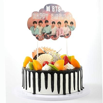 Decoración para tarta de cumpleaños o tarta de cumpleaños ...