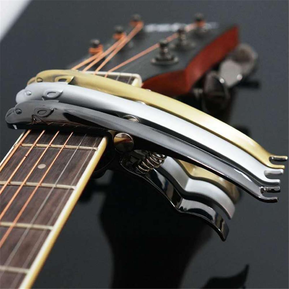 Su-luoyu Capo de Guitarra con Forma de Leopardo Clip de Sonido de aleación de Zinc Clip de Voz de Guitarra eléctrica Popular: Amazon.es: Hogar