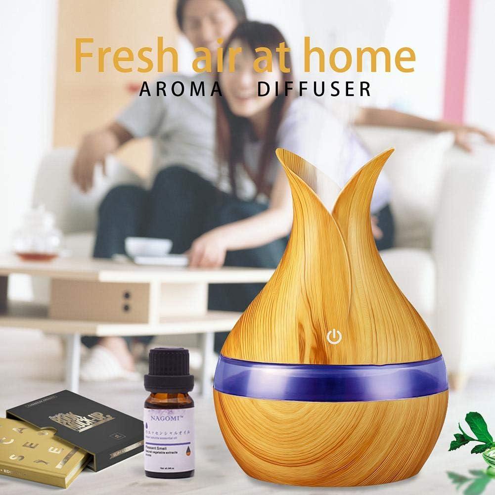 akaddy Difusor de aceite esencial de aromas de grano de madera ...