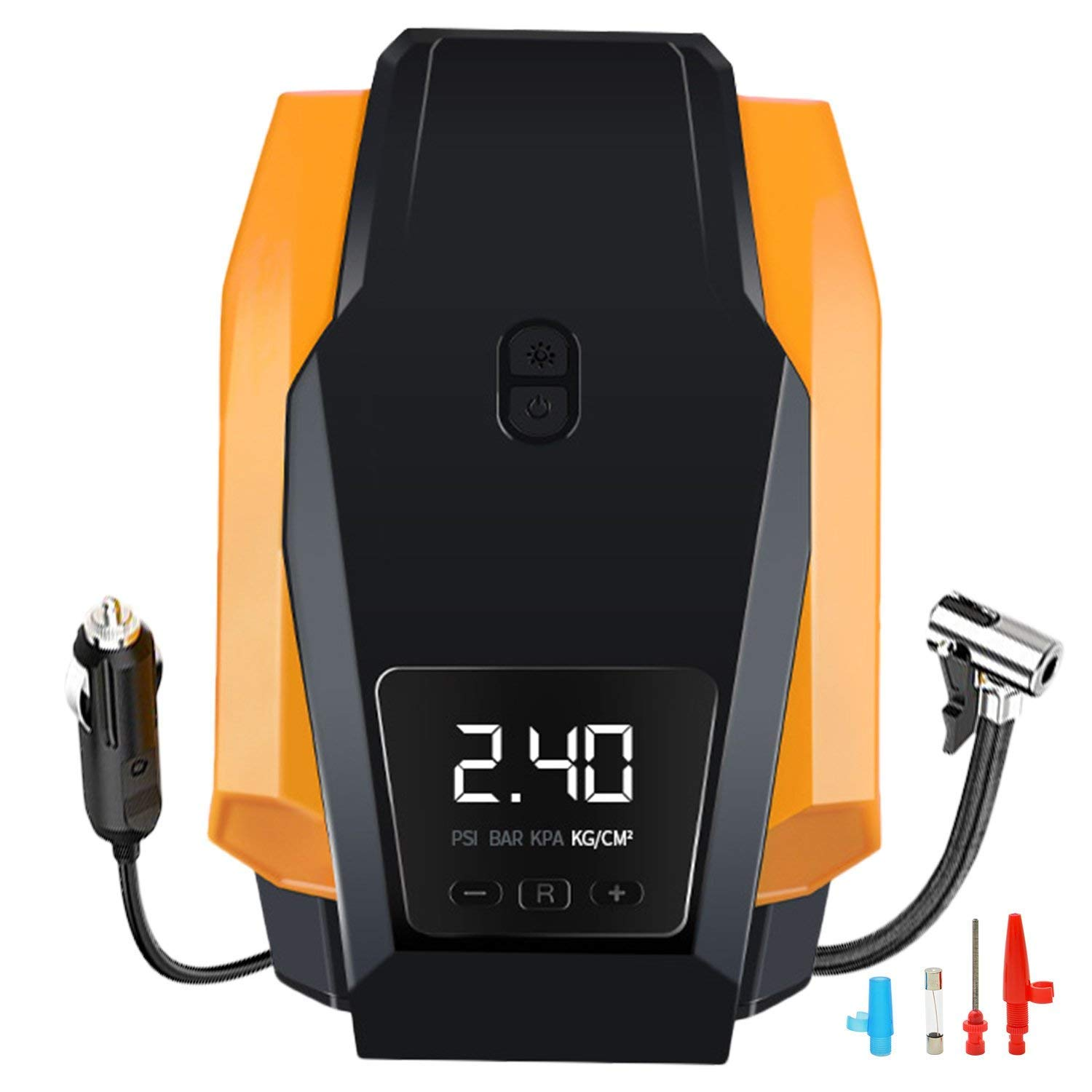Tire Inflator, Portable Air Compressor Pump, 12V DC Auto Tire Pump with Digital Display Pressure Gauge up to 150PSI for Car, Bicycle and Other Inflatables (A-02) YFANG 4350287811