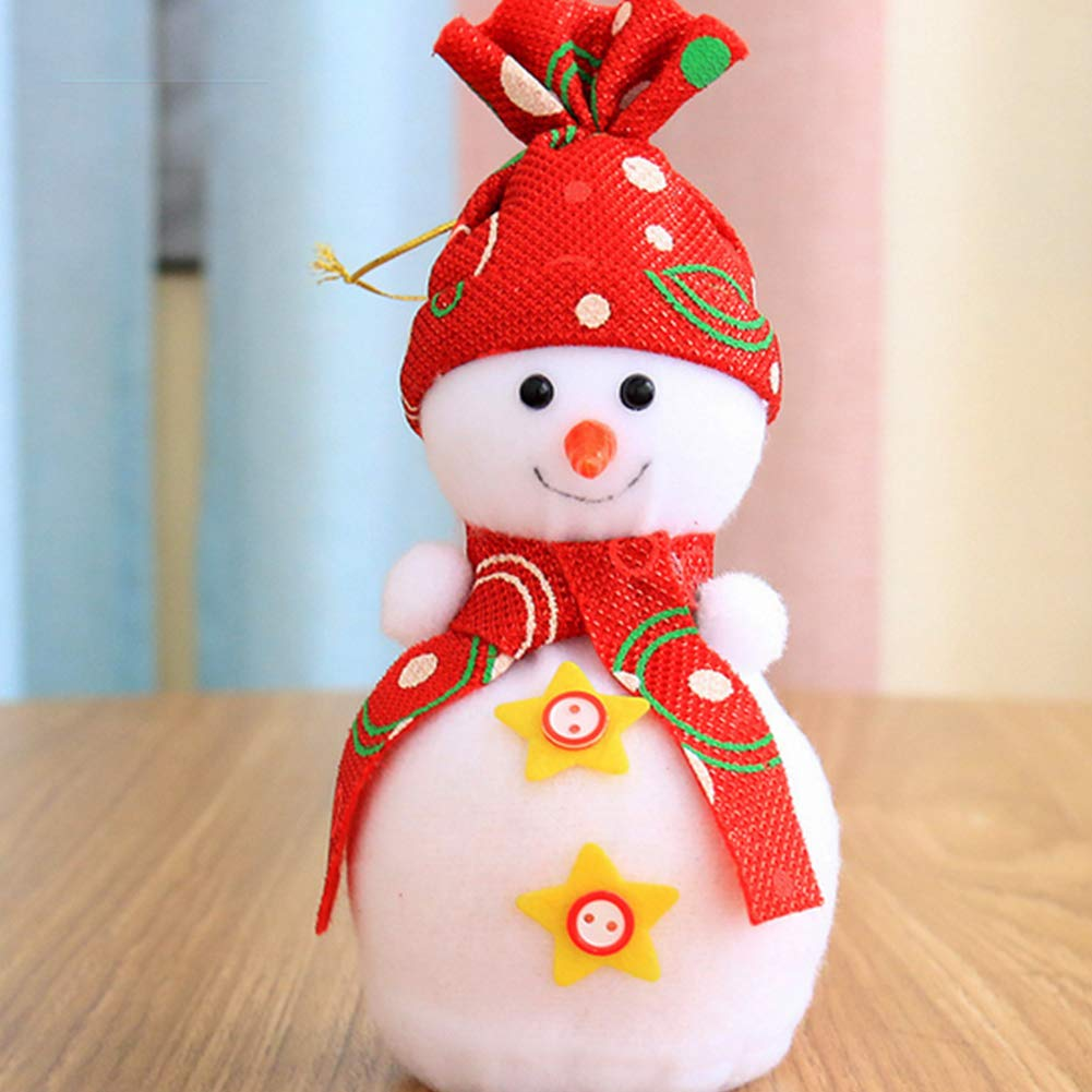 YaptheS Christmas Eve Cute Wrapping Snowman Shaped Candy Cookie Apple Bags Christmas Decoration Supplies-Red Christmas Gift by YaptheS (Image #2)