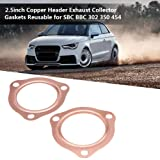 Acouto 2 PCS 2.5 Inch Copper Header Exhaust