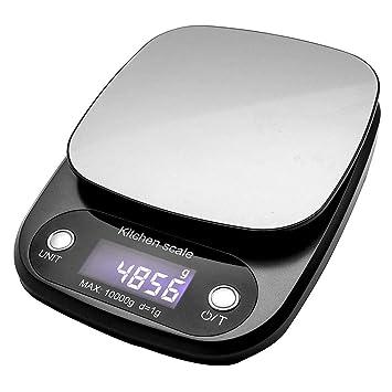 Báscula digital de cocina, 10 kg, pequeña báscula de pesaje de alimentos, para