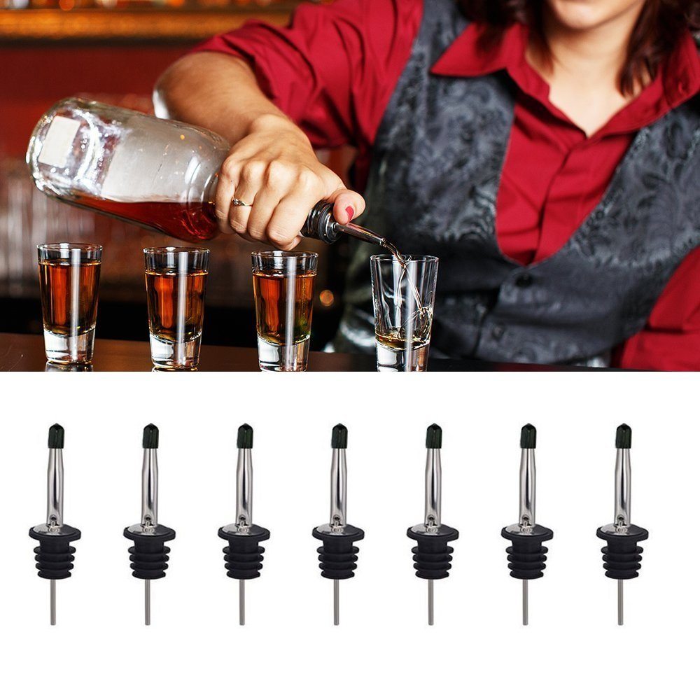 24 Pack Liquor Pour Spouts Set - Stainless Steel bottle spout and Liquor Pourers Dust Caps Covers by SZLFSX (Image #6)