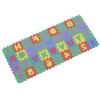 Puzzle SODIAL R Mini-Sized educativo Colorful Foam Alphabet /& Numero Interlocking Mat Puzzle