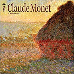 monet claude 2018 12 x 12 inch monthly square wall calendar impressionist impressionism art artist english french and spanish edition