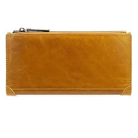 AIMEE7 carteras de piel hombre, billetera de cuero hombre, billetera xxl hombre, billetera