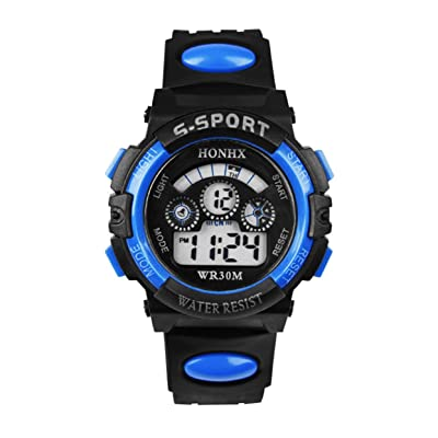 Detectorcatty Electronic Luminous Sport Watch Alarm Waterproof Wristwatch for Student Children Sports Watch Waterproof Casual Wristwatch: Toys & Games