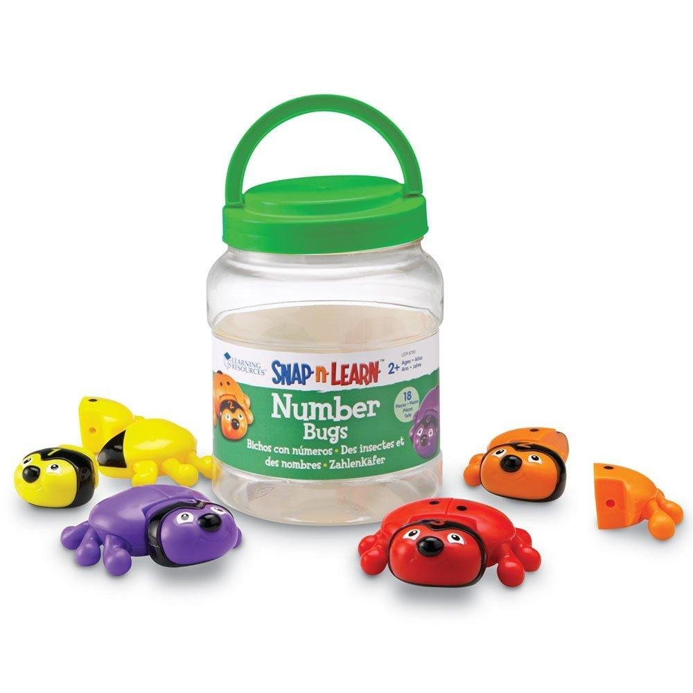 Amazon.com: Learning Resources Snap-n-Learn Number Bugs: Toys & Games