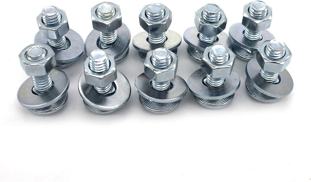 10 pc 1//4-20 x 5//8 Long Square-Neck Carriage Bolts Set w//Nuts /& Washers,Zinc-Plated,Carbon Steel Grade 2,by Fullerkreg