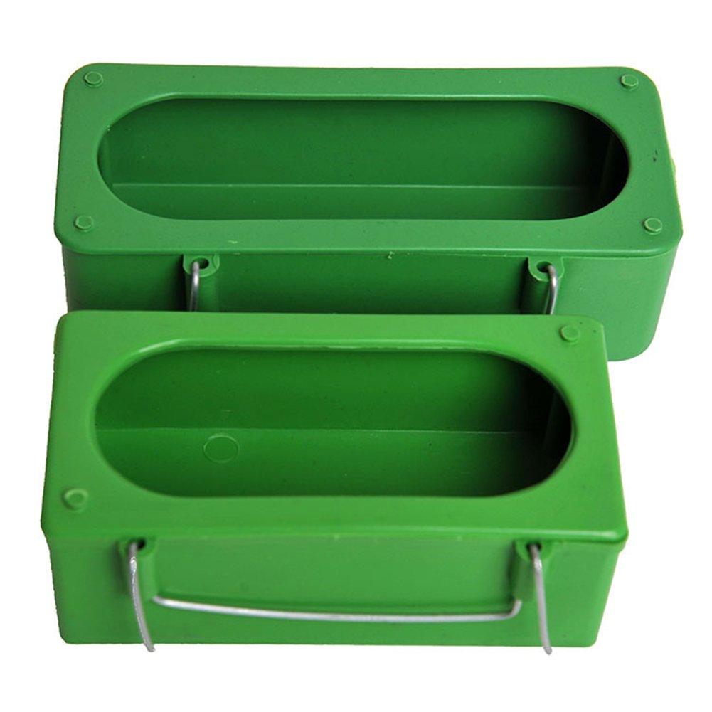 quanjucheer Bird bols pour cage Plastique, Nourriture et eau carré Porte-gobelet Parrot pigeon Gamelle