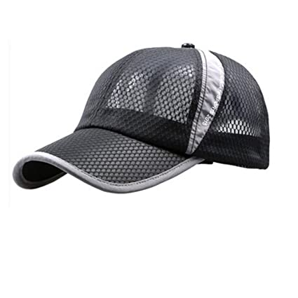 Womens Mens Quick Drying Mesh Baseball Cap Summer Cool Breathable  Lightweight Anti UV Sun Protection Hat ad36f0fc5974