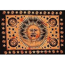 The Art Box Indian Cotton Sun Rise Good Morning Mandala Poster Flag Tapestry Hippie Hippy Throw Dorm Decor Wall Hanging Picnic Beach Sheet Coverlet Bohemian Gypsy Table Cloth